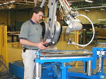 Engineer with Robotic Index Table
